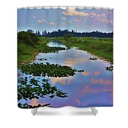 Canal In The Glades Shower Curtain