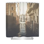 Canal In Venice Italy Applying Retro Instagram Style Filter Shower Curtain