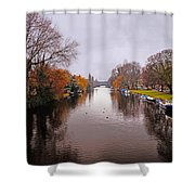 Canal Of Amsterdam Shower Curtain
