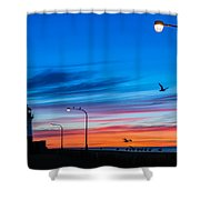 Canal Park Sunrise Shower Curtain