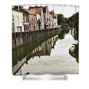 Canal Reflection  Shower Curtain