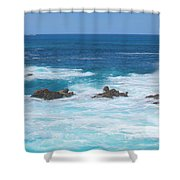 Canal Rocks 2am-113297 Shower Curtain