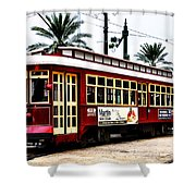 Canal Street Car Shower Curtain by Bill Cannon