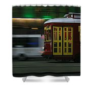 Canal Street Trolley Shower Curtain