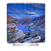 Canales Lake Shower Curtain