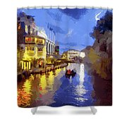 Water Canals Of Amsterdam Shower Curtain