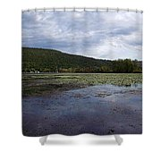 Canandaigua Lake Panorama Shower Curtain