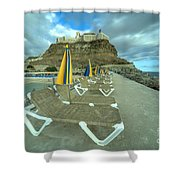 Canarian Loungers  Shower Curtain