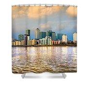 Canary Wharf - London - Uk Shower Curtain