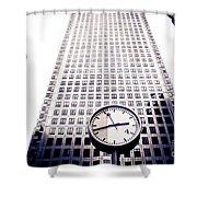 Canary Wharf Clock Shower Curtain