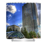 Canary Wharf Station London Shower Curtain