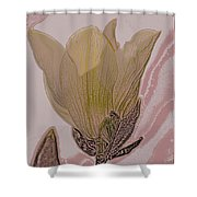 Canary Yellow Magnolia Shower Curtain
