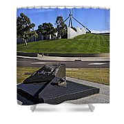 Canberra - Memorial And Parliament House Shower Curtain