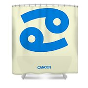 Cancer Zodiac Sign Blue Shower Curtain