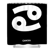 Cancer Zodiac Sign White Shower Curtain