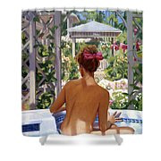 Candace Being Candlish On Canvas Shower Curtain