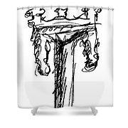 Candelabrum Sketch Shower Curtain