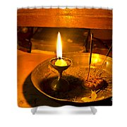 Candle And Incense Sticks Shower Curtain