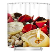 Candle And Petals Shower Curtain