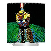 Candle Bust Shower Curtain