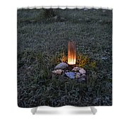 Candle Glow Shower Curtain