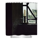 Candle In The Window Shower Curtain