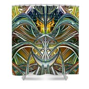Candle Light Abstract Flame Fx  Shower Curtain