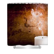 Candle Smoke Trails Shower Curtain