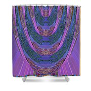 Candle Stick Art Magic Graphic Patterns Navinjoshi Signature Style Art      Shower Curtain