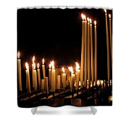 Candles In Church Shower Curtain