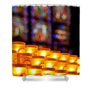 Candles In Notre Dame Shower Curtain