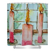Candles In The Wind-ow Shower Curtain
