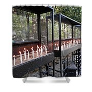 Candles Of Devotion Shower Curtain