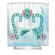 Candy Cane Christmas 2 Shower Curtain