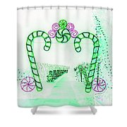 Candy Cane Christmas 5 Shower Curtain