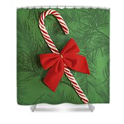 Candy Cane Shower Curtain by Colette Scharf