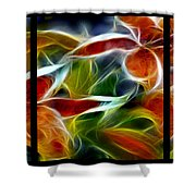 Candy Lily Fractal Triptych Shower Curtain