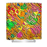 Candy - Lolly Pop Abstract  Shower Curtain