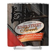 Candy Shop Sign Shower Curtain