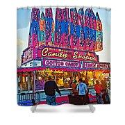 Candy Shoppe Line Art Shower Curtain