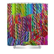 Candy Twists Shower Curtain