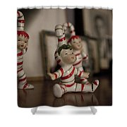 Candycane Kids Shower Curtain