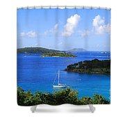Caneel Bay In St. John In The U. S. Virgin Islands Shower Curtain