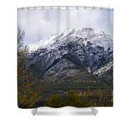 Canmore Rocky Mountain View  Shower Curtain