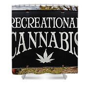 Cannabis Marijuana Store In Ridgway Shower Curtain