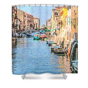 Cannareggio Canal Venice Shower Curtain