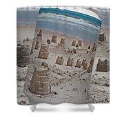 Canned Castles Shower Curtain
