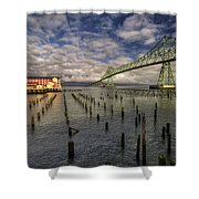 Cannery Pier Hotel And Astoria Bridge Shower Curtain