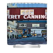 Cannery Row Area At Dawn, Monterey Shower Curtain