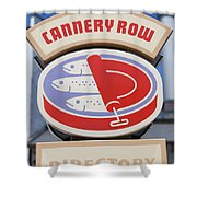 Cannery Row Directory At The Monterey Bay Aquarium California 5d25020 Shower Curtain
